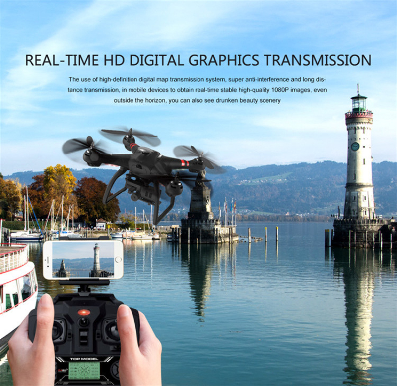professional Brushless Motor wifi fpv rc drone X21 with GPS and 1080P Gimbal Camera RC Drone Quadcopter Follow Me Mode Position