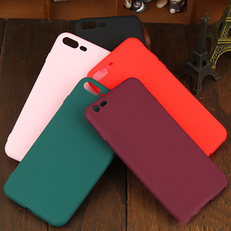 Anti vibration Scrub TPU Anti fall Solid Color Mobile Shell Soft back Case Cover For iPhone 6S 6SPLUS 8PLUS 8 7PLUS X XS 7 Case in Half wrapped Cases from Cellphones Telecommunications
