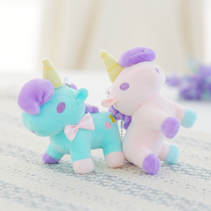 1pcs 18cm craft cute little pony plush font b toy b font unicorn Stuffed plush font