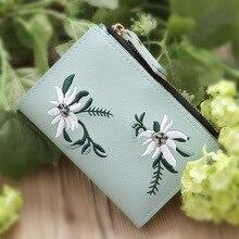 Women Embroidery Printing Floral Wallet Fashion Lady Flowers Pattern Handbag ID Card Holder Purse monedero mujer para monedas цены