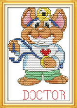 The sport mouse (2) – doctor cross stitch kit 14ct 11ct count print canvas stitches embroidery DIY handmade needlework plus