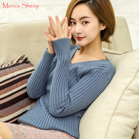 Menca Sheep New Arrival Women S Sweater High Elastic Jumpers Ladies Cashmere Knitting Vneck Standard Pullovers