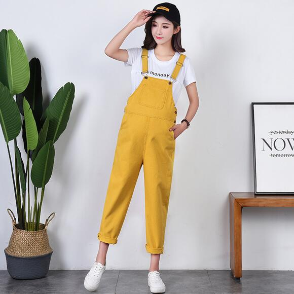 Yellow Cotton Denim Maternity Jumpsuits for Four Season Wear Bib Pants Clothes for Prgnant Women Pregnancy Overalls Jeans DW863 Сумка