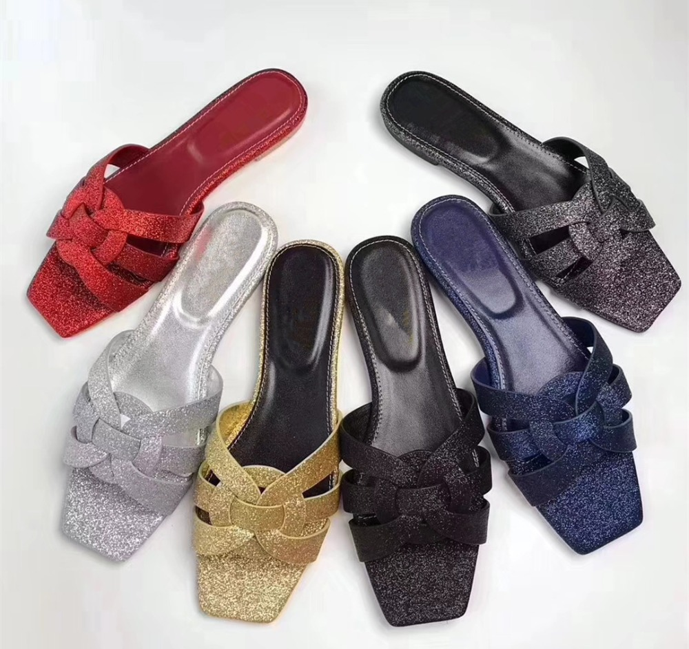 2018 summer cow leather flat sandals Chic women slippers shoes EU35-41 BY515