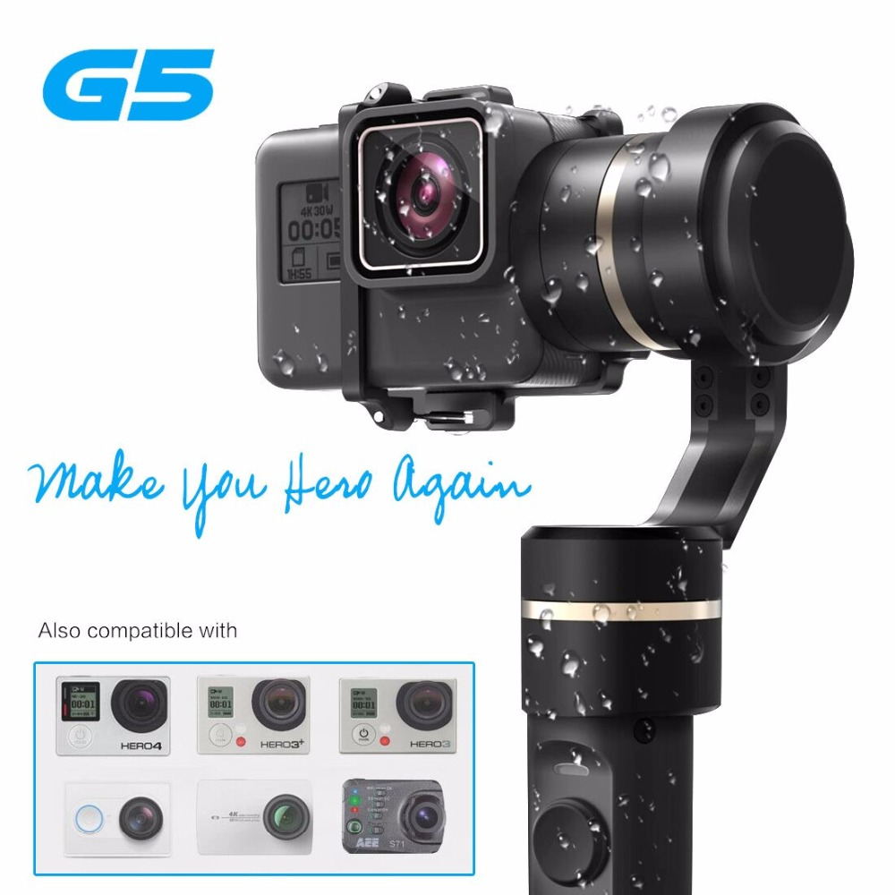 Feiyu G5 3-Axis Handheld Gimbal for GoPro HERO5 5 4 Xiaomi yi 4k SJ AEE Action Cams Splashproof Bluetooth-enabled Control comp cams 12 253 4 camshaft