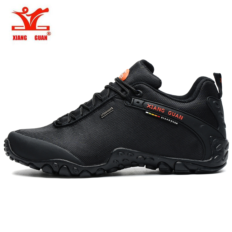 Famous Brand Mens Waterproof Outdoor Hiking Trekking Shoes Sneakers For Men Black Color Sport Climbing Mountain Shoes Man часы