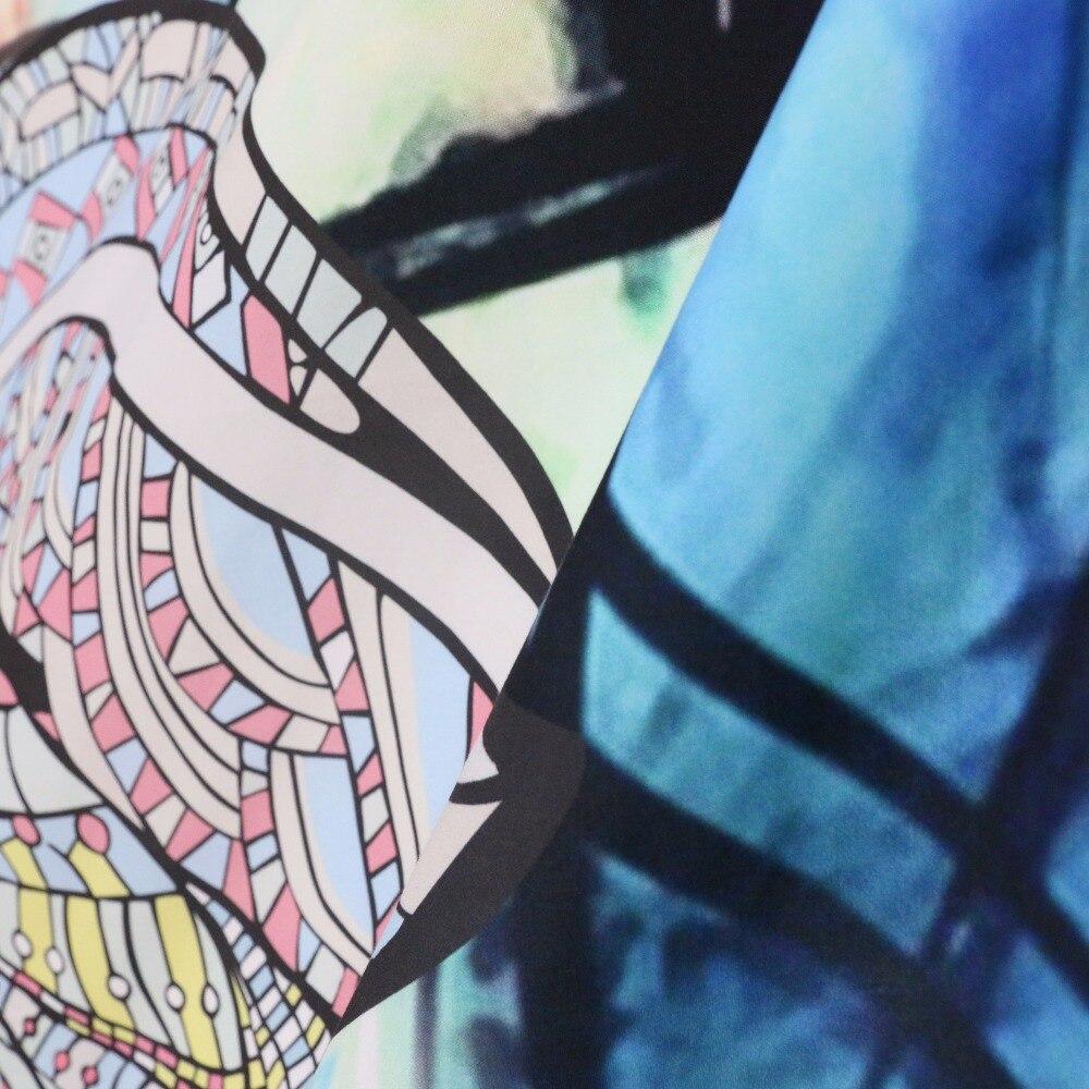 BeddingOutlet Elephant Tapestry Colored Printed Decorative Mandala Tapestry Watercolor 130cmx150cm 153cmx203cm Boho Wall Carpet