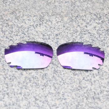E O S spolaryzowane wzmocnione wymienne soczewki do okularów przeciwsłonecznych Oakley Jawbone-fioletowe fioletowe lustro spolaryzowane tanie i dobre opinie Eye Opening Stuff Poliwęglan Okulary akcesoria Fit for Oakley Jawbone Vented Frame UV400 One size inches As your choice