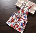 New Arrival Baby Girls Flower-print Suspender Sundress Girls Floral Dresses Kids Sleeveless Sundress Girls Mini Dress