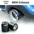 Углеродного Волокна JCW Автомобиль Exhause Декор Выхлопной Трубы Крышки Украшение для Mini R55 R56 R67 R58 R59 R60 R61 F55 F56 F54 автомобиль для укладки