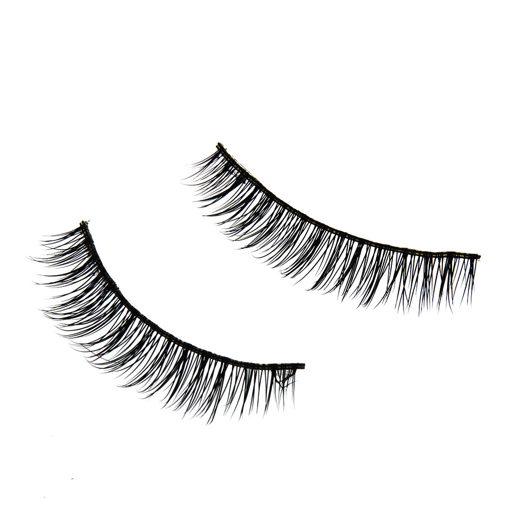 1 Pair Handmade False Eyelashes Natural Brighten Eye Lash Black Fake Eyelash Thick Long  ...