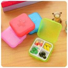 1 шт., переносная коробка для таблеток с 4 Сетками, держатель для таблеток, лекарств, хранения, разветвитель, чехол для хранения, органайзер, контейнер, кейс