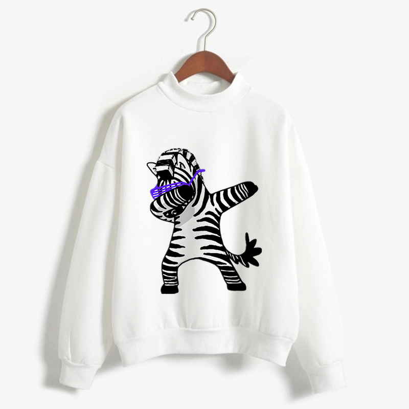 Hoodie Harajuku Kawaii Dabbing Tops Hoodie Long Sleeve Animal Printed french bull Funny Pullovers Women Clothes 2019 Sweatshirts in Hoodies amp Sweatshirts from Women 39 s Clothing