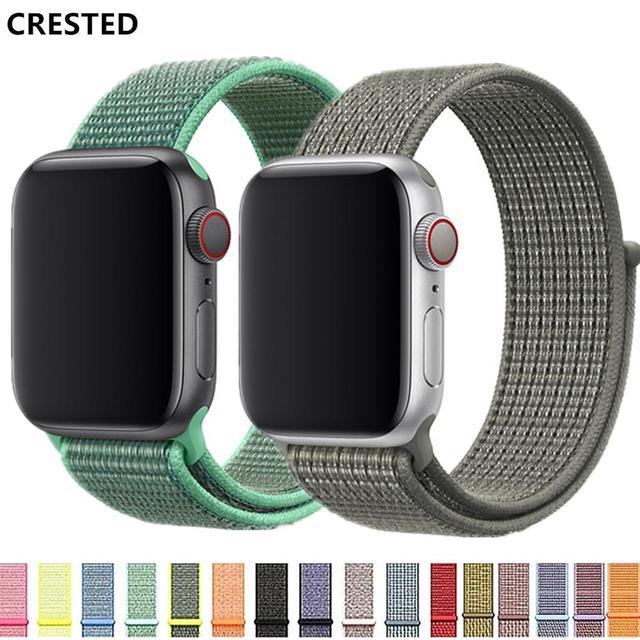 CRESTED Sport Loop strap For Apple Watch band 42mm iwatch band 38mm 44mm 40mm correa apple watch 4 3 pulseira Nylon bracelet 2/1