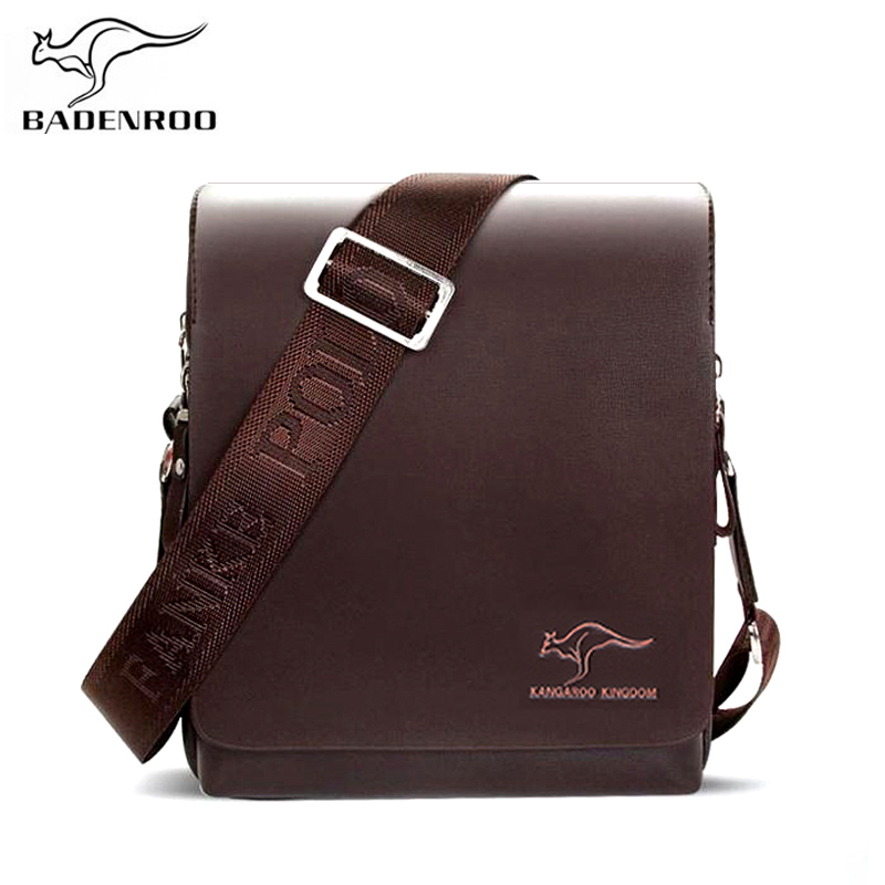 Badenroo Brand Men's Messenger Bag Luxury Handbags Kangaroo Male Bags Designer Leather Business Men Shoulder Bags Crossbody Bags
