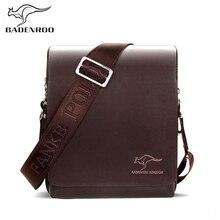 Badenroo العلامة التجارية الرجال حقيبة ساعي حقيبة يد فاخرة الكنغر أكياس الذكور مصمم الجلود رجال الأعمال حقائب كتف حقائب كروسبودي