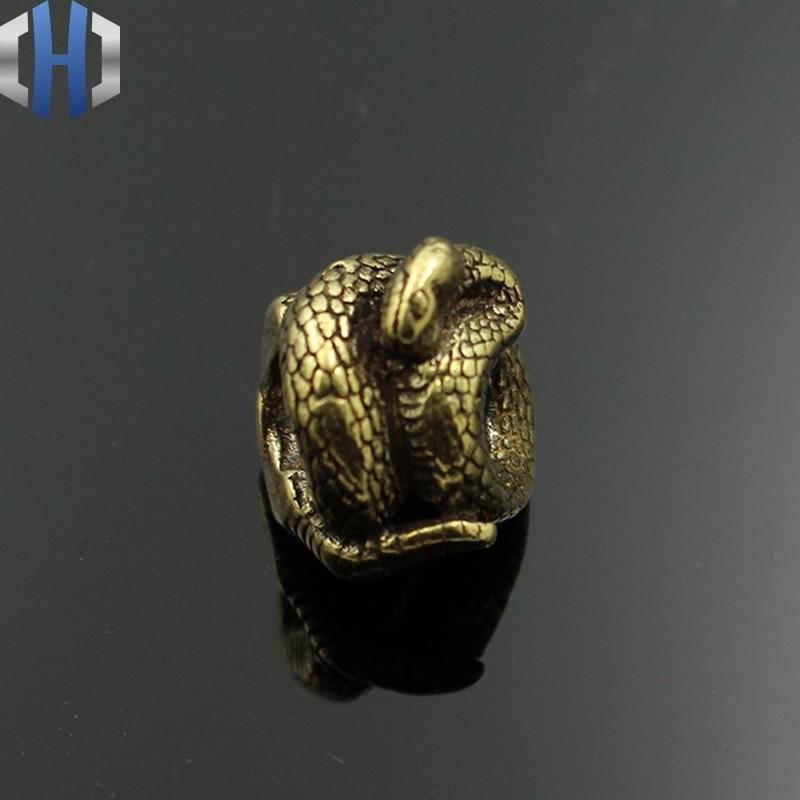 Snake Brass Knife Beads Umbrella Rope DIY EDC Lanyard Paracord Bead