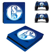 FC Schalke 04 PS4 Slim Skin Sticker Decal Vinyl for Playstation 4 Console and Controller PS4 Slim Skin Stickers