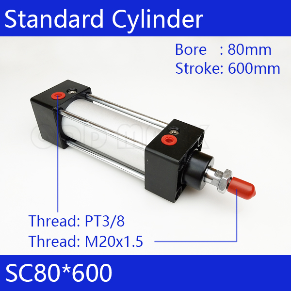 SC80*600 Free shipping Standard air cylinders valve 80mm bore 600mm stroke SC80-600 single rod double acting pneumatic cylinder sc80 500 free shipping standard air cylinders valve 80mm bore 500mm stroke sc80 500 single rod double acting pneumatic cylinder