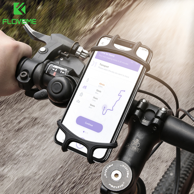 20e9f4c392c FLOVEME Bike Bicycle Phone Holder Soft Silicone Mount Bracket GPS Handlebar  Clip Stand For Mobile Cell