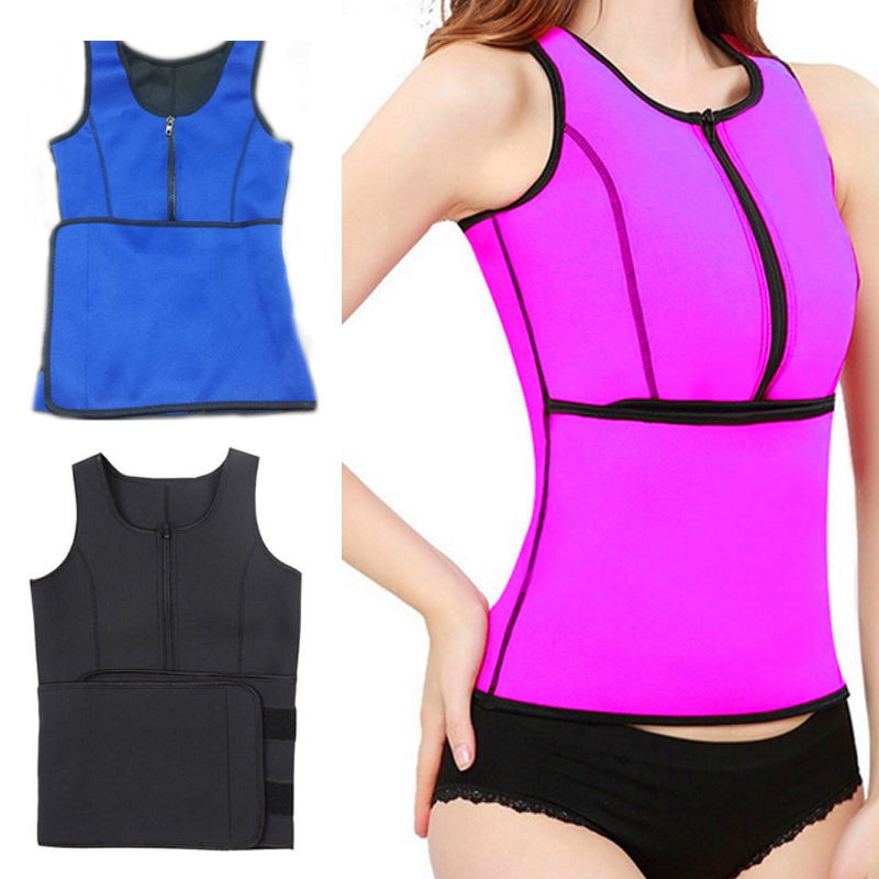 Neoprene Sauna Waist Trainer Vest Hot Shaper Summer Workout Shaperwear Slimming Adjustable Sweat Belt   Bustiers     Corsets