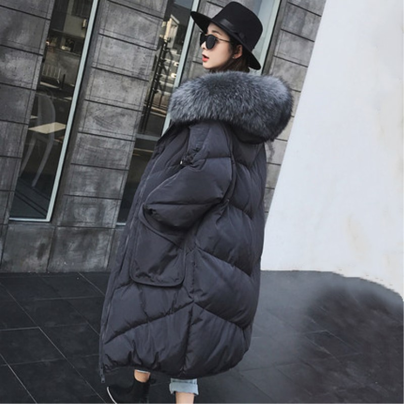 Snowimage Factory Wholesale New Arrive Female Loose Overknee Down Jacket Special Discount Thick Down Jacket Women's Long Coat