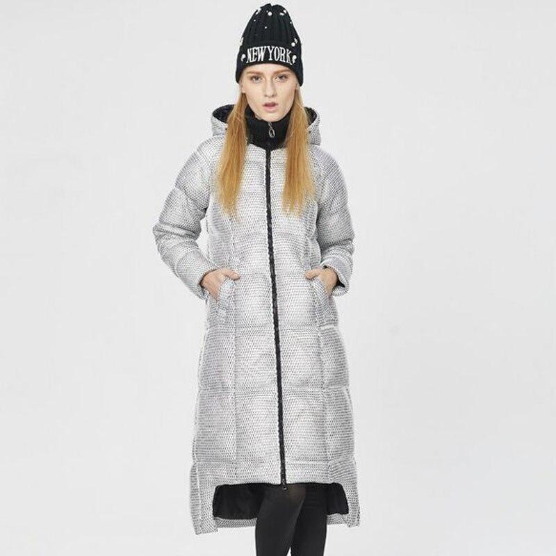 Blanc D'hiver Le Vers Mode Nouvelle Bas 2018 Femmes Bleu Grossier Femme Personnalisé Parka Manteau Veste Haute Qualité De blanc Canard Duvet Maille 8vxqwEq4