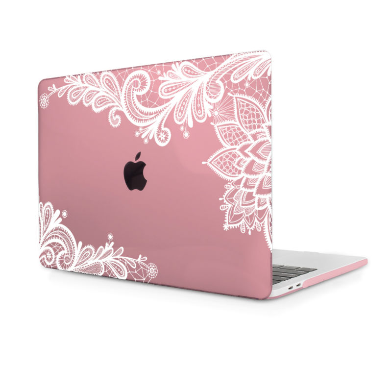 Redlai Cearance sale Clear case for Macbook Air 13.3 inch Lace Flowr Hard cover Macbook  ...