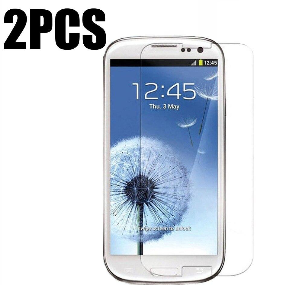 2pcs Tempered Glass Screen Protector For Samsung Galaxy S 3 Siii S3 Duos I9301 Neo I9300 Gt-i9300 9300 9300i I9300i I9305