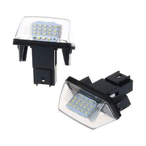 Image 4 - 1 זוג 18 LED רישיון מספר צלחת אורות מנורת עבור פיג ו 206 207 307 308 406 סיטרואן C3/C4 /C5/C6
