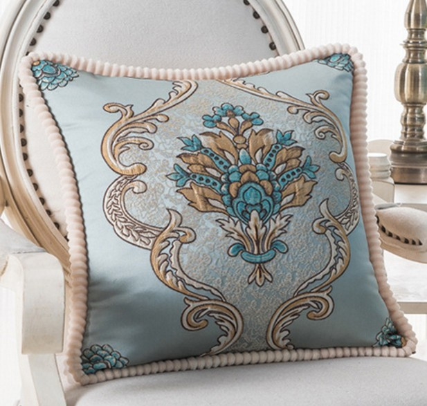 European Style Luxury Bed Decorative Throw Pillows Cushions Cover