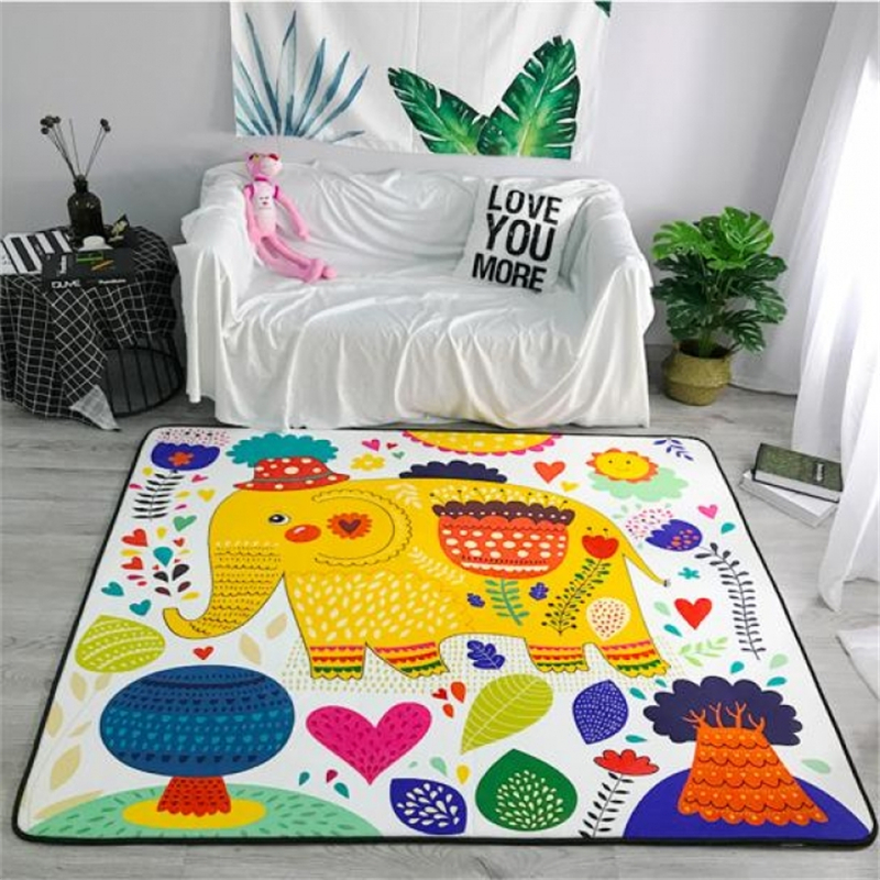 Cartoon Elephant Carpets Soft Flannel Area Rugs Parlor Kids Room Anti-slip Large Baby Crawling Mat Rug Carpet for Living Room Cartoon Elephant Carpets Soft Flannel Area Rugs Parlor Kids Room Anti-slip Large Baby Crawling Mat Rug Carpet for Living Room