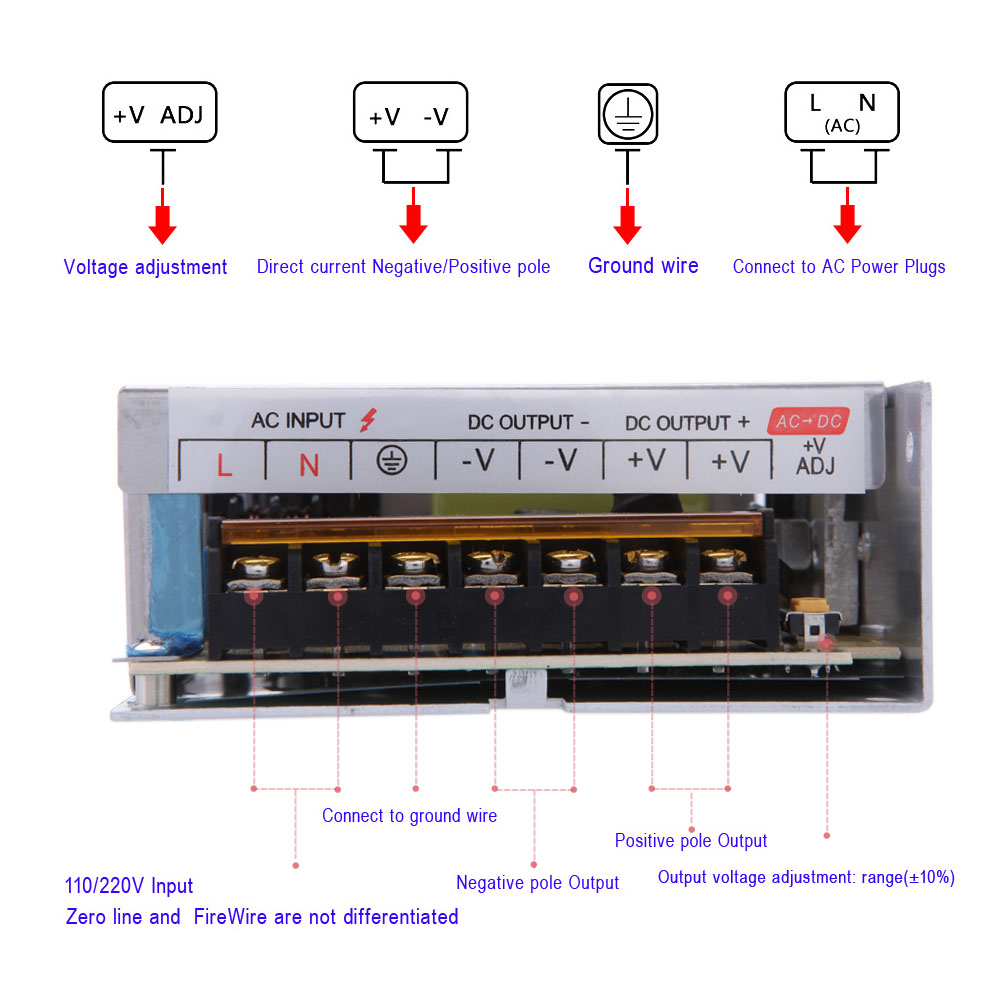 Ac 110v 220v To Dc 12v Switch 200w Power Supply Voltage Transformer Strip Led Sign Wiring Diagram For Display Billboard Spotlight 167a In Lighting Transformers From Lights