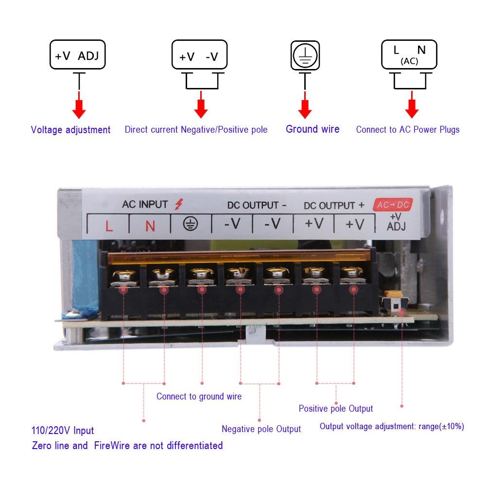 medium resolution of ac 110v 220v to dc 12v switch 200w power supply voltage transformer for led strip led display billboard spotlight 16 7a in lighting transformers from lights