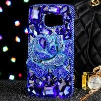 Luxus Mädchen Dame Frau Stil 3D Diamant Blumen BLUELOVER Telefon Abdeckung Fall für Samsung Galaxy S8 Plus S7 S6 Rand J5 J7 A5 2017