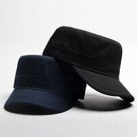 2018 New Fashion Unisex Sailor Ship Boat Captain Military Hats Peaked Cap Black Baseball Caps Flat