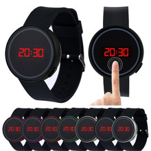 Brand New Wrist Watch For Men Fashion LED Touch Screen Wristwatches Silicone Male Clock Hours #2522