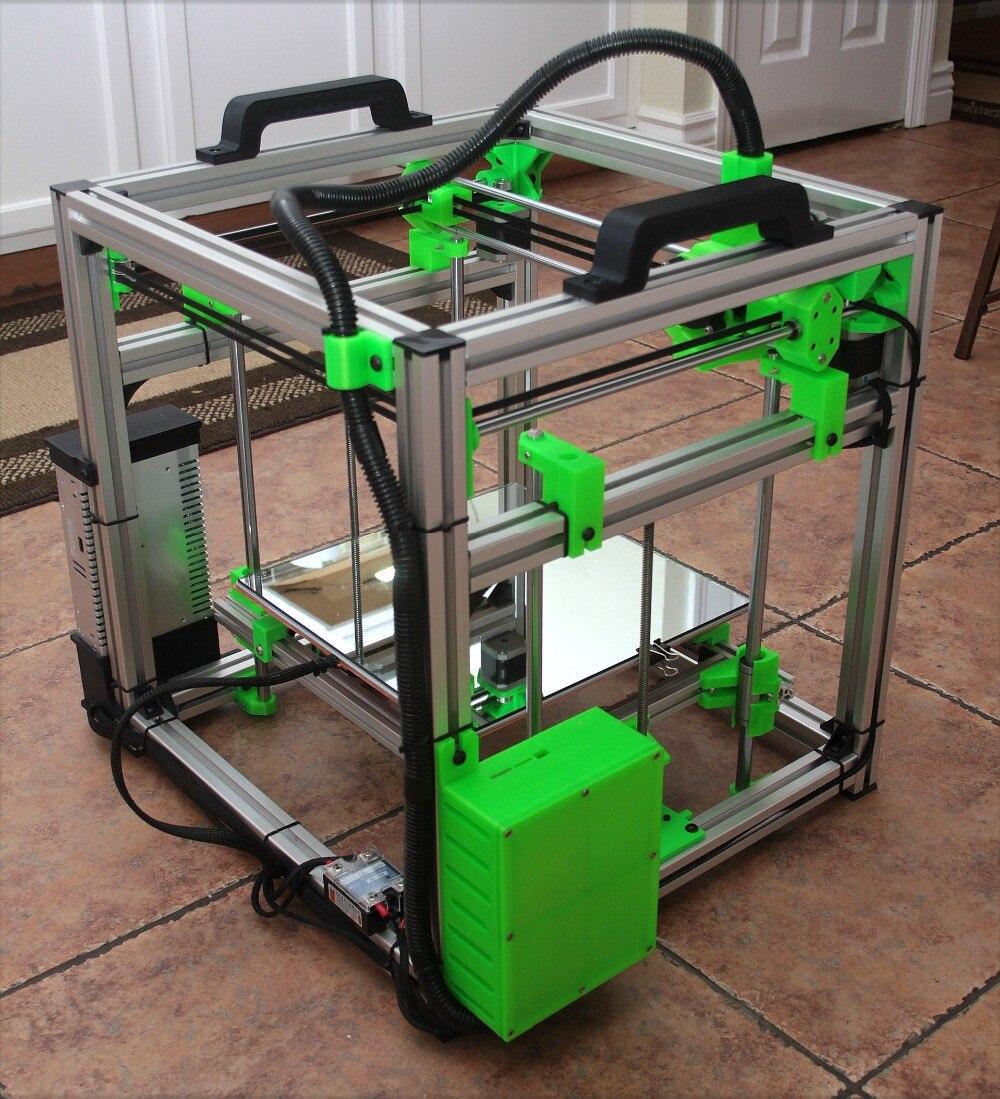 1 ensemble HyperCube Evolution 3D imprimante métal cadre Kit-300x300x300mm Cube construire Volume 3D imprimante cadre Kit
