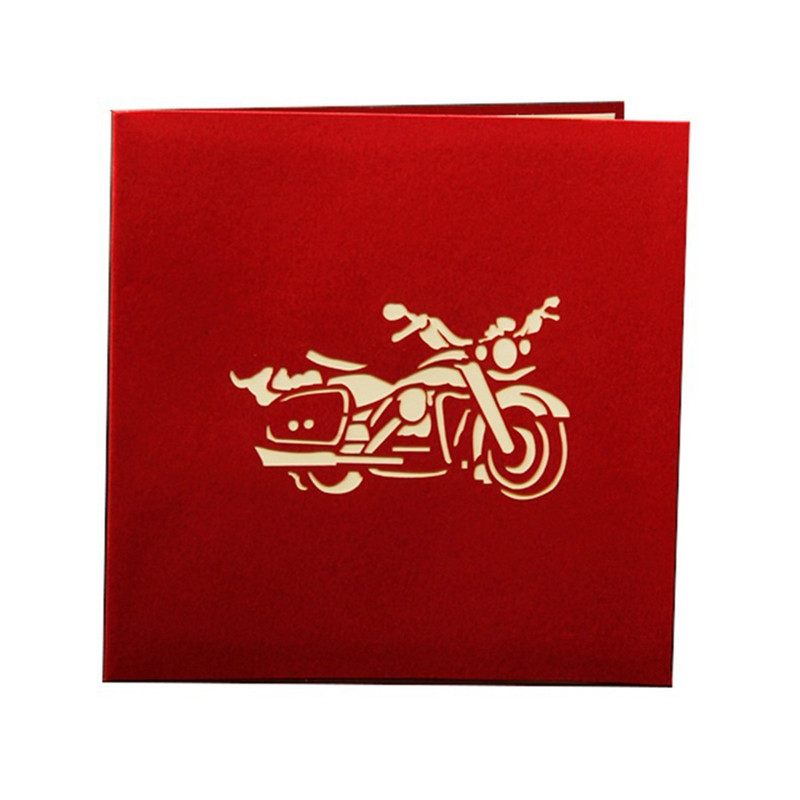 20pcs 3D Motorcycle Model Wedding Greeting Cards Carving Paper ...