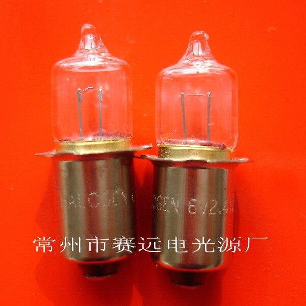 หลอดไฟฮาโลเจน 6 V 2.4 W P13.5S A962 10 pcs