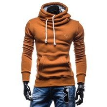 ZOGAA Spring Autumn Men Casual Hoodies Boys Fashion Solid Color Pullover Turtleneck Sportswear Male Tracksuits 2019 New