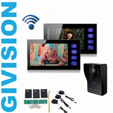 Best price Touch Key 7″ LCD Wifi video door phone intercom system 2 monitor wireless home video doorphone door bell IR Night vision camera