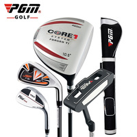 Men PGM Quality Goods #1 Driver Wood #7 Iron Sand Wedge Putter Set Rod Golf Club Right Half Suit 4 Branch Dress
