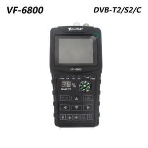 VF-6800 DVB-T2 DVB-S2 DVB-C Satellite Finder 2000mA Battery MPEG4 Sat Finder Meter 2.4 inch LCD DVB-T DVB-S HD Digital Satfinder(China)