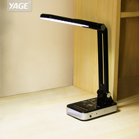 YAGE portable folding desk lamp office led table lamp rechargeable led hand desk lamps protection glass table lampe led flexible