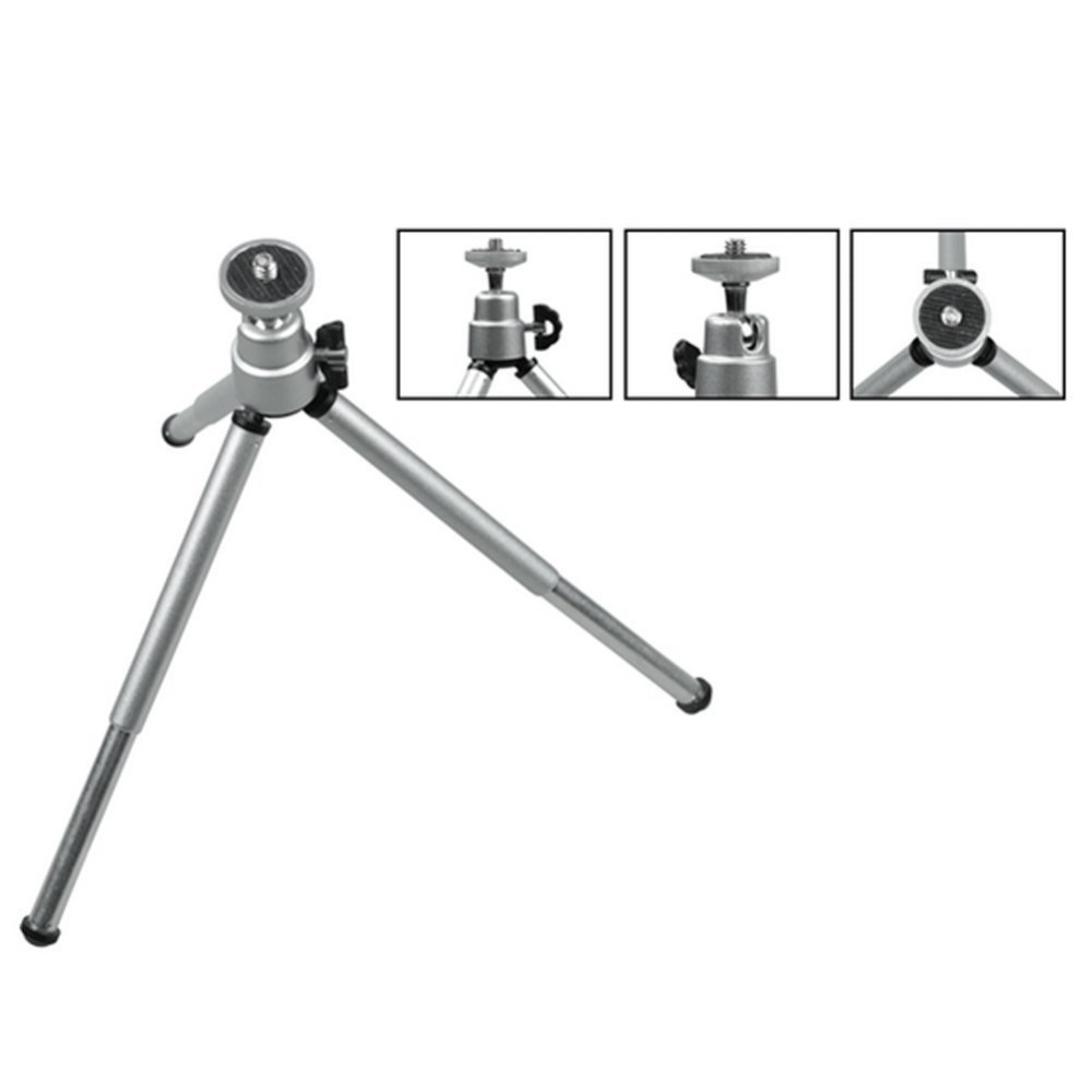 Image 5 - Kaliou Silver Color Camera Phone Professional Mini Tripod Travel Stand Holder for Gopro 7 6 5 4 3+ 2 1 Mobile Phone iPhone Samsu-in Live Tripods from Consumer Electronics