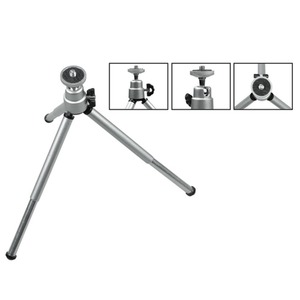 Image 5 - Kaliou Silver Color Camera Phone Professional Mini Tripod Travel Stand Holder for Gopro 7 6 5 4 3+ 2 1 Mobile Phone iPhone Samsu