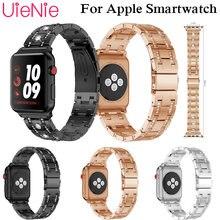 Мозаичная Алмазная стальная полоса для apple watch 40 мм 44
