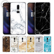Fashion Granite marble For Case Oneplus 6 Cover Soft Silicone Cases for One plus 5 5T 1+6 Phone 6T Capa