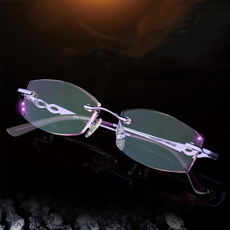 7418b53926e3 New Fashion Reading Glasses Women Eyewear Diamond Cut Rimless Reading  Glasses With Rhinestones Eyeglasses Lightweight Glasses  7402421128 1739390619